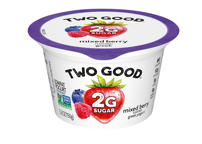 Mixed Berry Two Good™ Greek Low Fat Yogurt with 2 Grams of Sugar