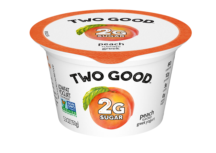 Peach Two Good™ Greek Low Fat Yogurt with 2 Grams of Sugar