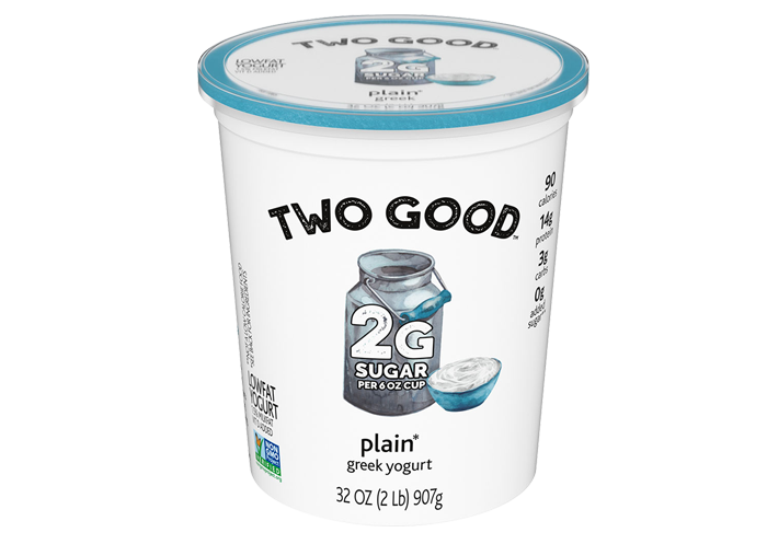 Plain Two Good™ Greek Lowfat Yogurt Quart with 2 Grams of Total Sugar