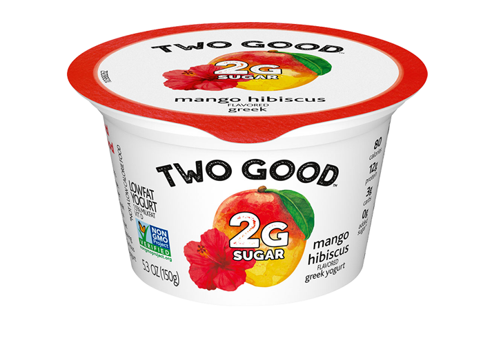 Mango Hibiscus Two Good™ Greek Lowfat Yogurt with 2 Grams of Total Sugar