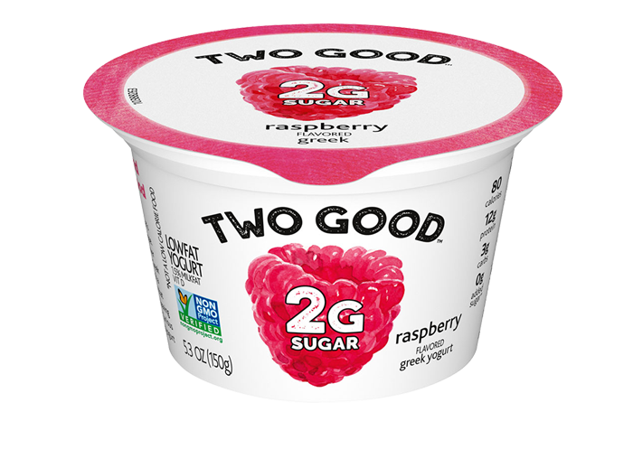 Raspberry Two Good™ Greek Low Fat Yogurt with 2 Grams of Sugar